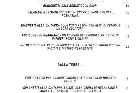 Ed ecco a voi le nostre proposte fuori menu con piatti di stagione e rivisitati …