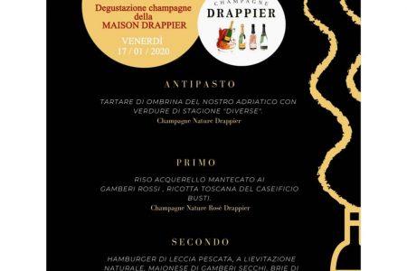 Venerdi 17 gennaio vi aspettiamo per la degustazione di champagne Drappier.. 75€…